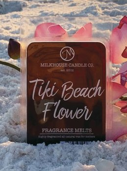 Milkhouse Candles Tiki Beach Flower 2.5oz Melt Milkhouse