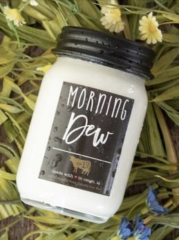 Milkhouse Candles Morning Dew 13 oz Farmhouse Jar Candle