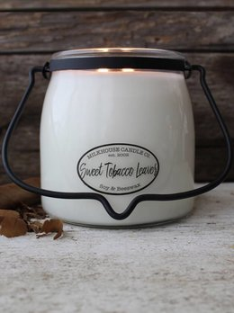 Milkhouse Candles Sweet Tobacco Leaves 16oz Butter Jar