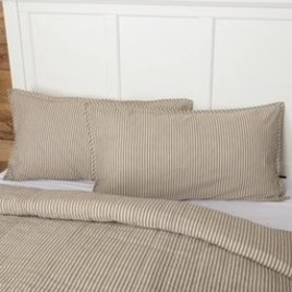 VHC Brands Sawyer Mill Charcoal Ticking Stripe Sham (In Store)