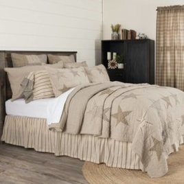 VHC Brands Sawyer Mill Star Charcoal Bedding Collection Queen