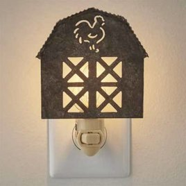 Park Designs Barn Night Light Galvanized