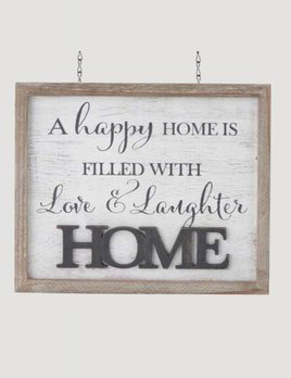 K & K Interiors 2 Sided  White Washed HOME Arrow Replacement