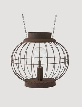 K & K Interiors Wire Lantern With Vintage LED Bulb Arrow Replacement