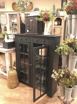 Nana's Farmhouse Glass Door Cabinet