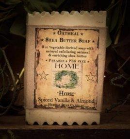 Herbal Star Candles Home Oatmeal Shea Bar of Soap