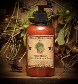 Herbal Star Candles Fresh Herbs Organic Hand Lotion