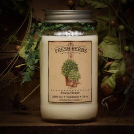 Fresh Herbs Jar Candle