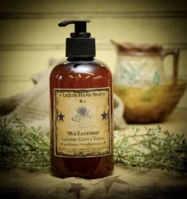 Herbal Star Candles Old Fashioned Lavender Liquid Hand Soap