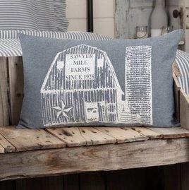 VHC Brands Sawyer Mill Blue Barn Pillow