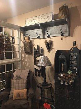 Farmhouse Grey Barn Wood Shelf