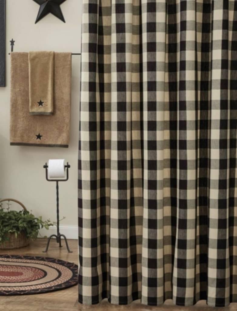 Park Designs Wicklow Black Shower Curtain