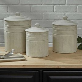Park Designs Crimped Canisters - Set of 3