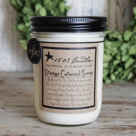 1803 Candles 1803 Orange Caramel Scone Candle