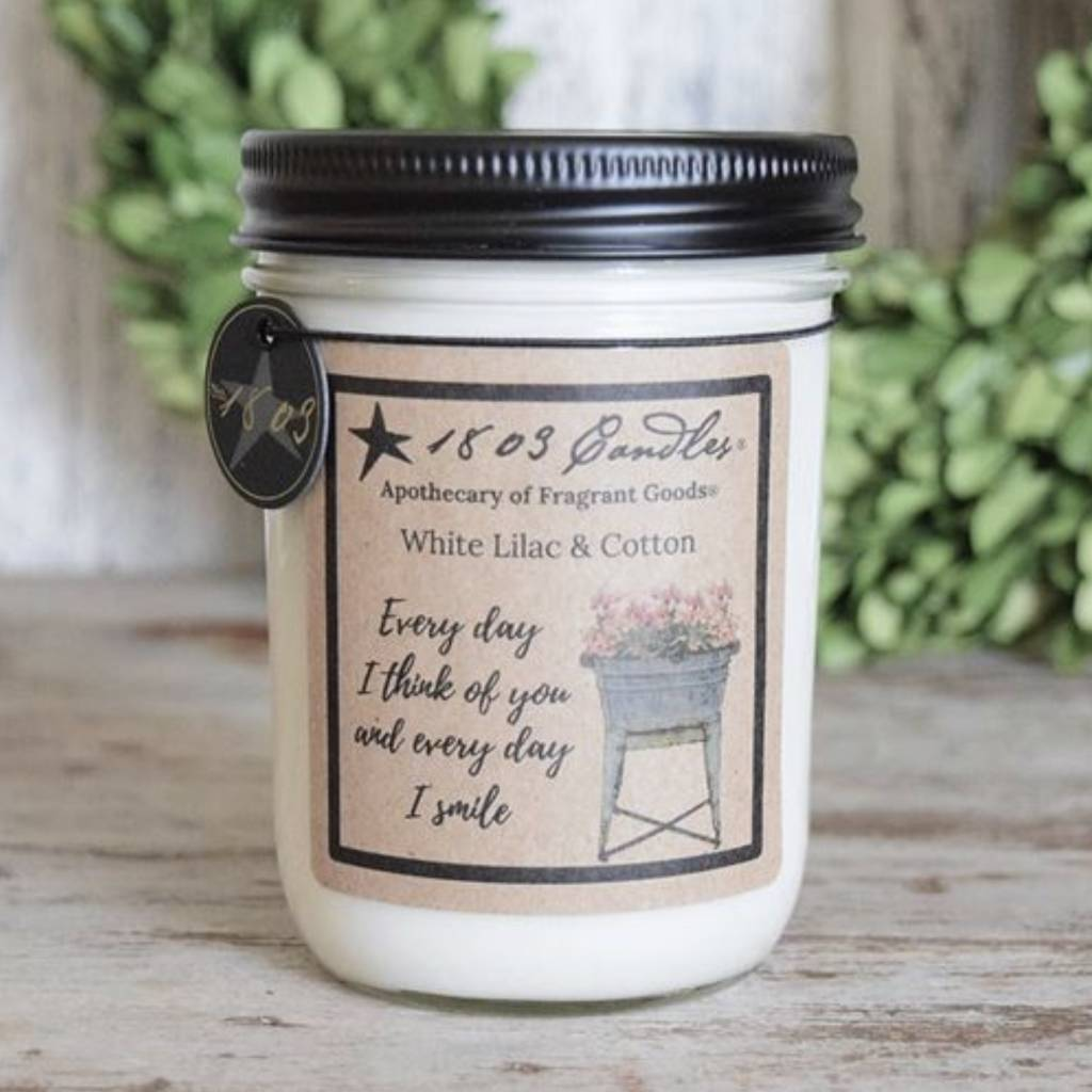 1803 Candles 1803 White Lilac & Cotton Candle