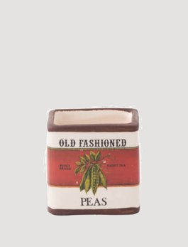 K & K Interiors Old Fashioned Peas Ceramic Square Pot