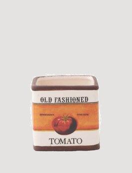 K & K Interiors Old Fashioned Tomato Ceramic Square Pot