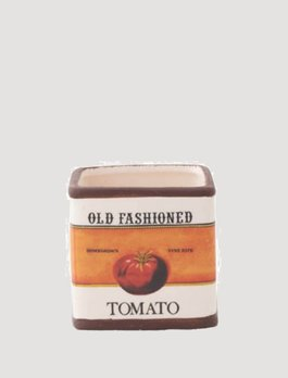 Old Fashioned Tomato Ceramic Square Pot