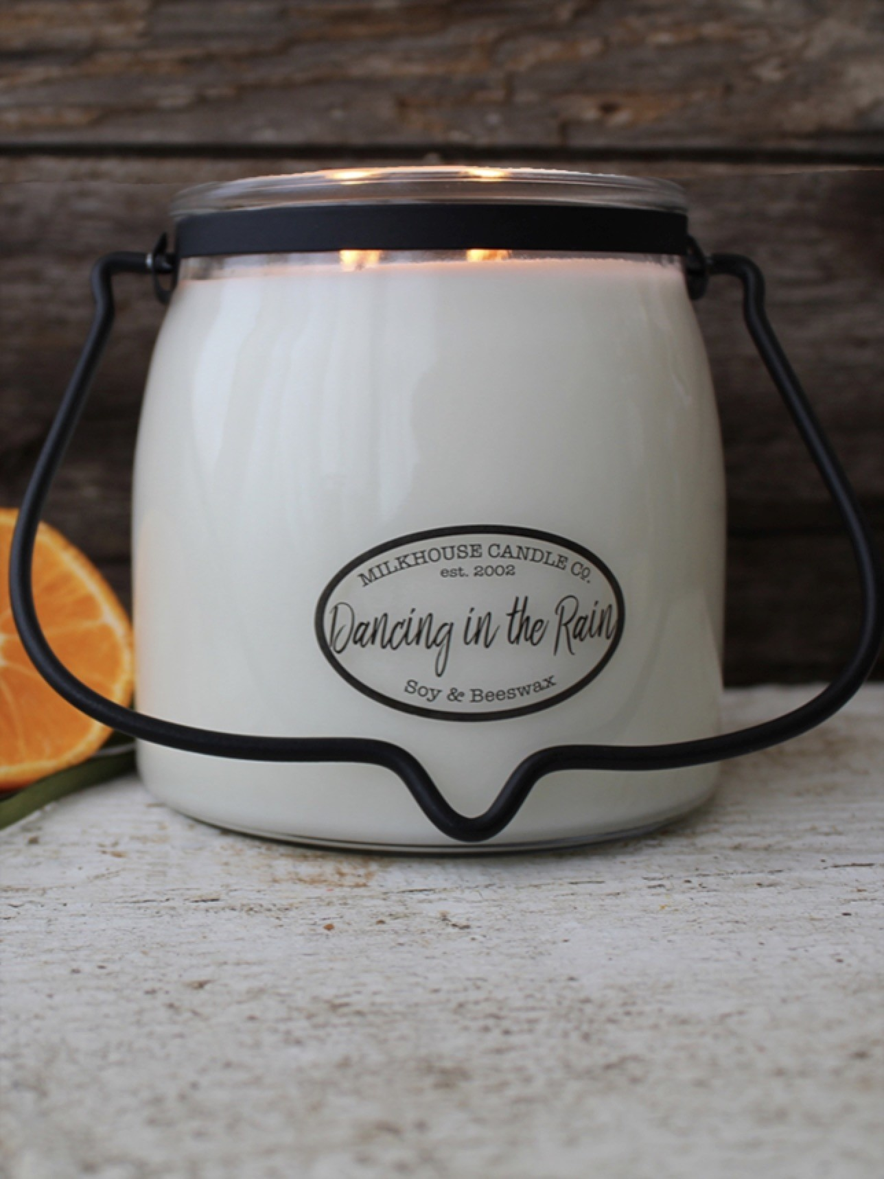 Milkhouse Candles Milkhouse Dancing In The Rain 16oz Butter Jar