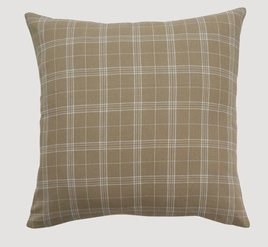 Park Designs Fieldstone Cream Plaid Pillow