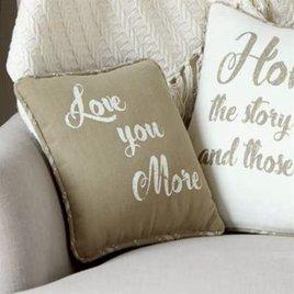 Park Designs Love You More Print Pillow