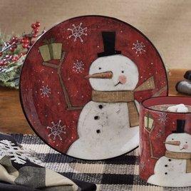 Park Designs Snow Friends Snowman Salad Plate