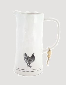 "Melrose International Chicken Pitcher 7.25"" x 9.5"" H Stoneware"