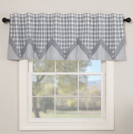 VHC Brands Sawyer Mill Blue Layered Valance