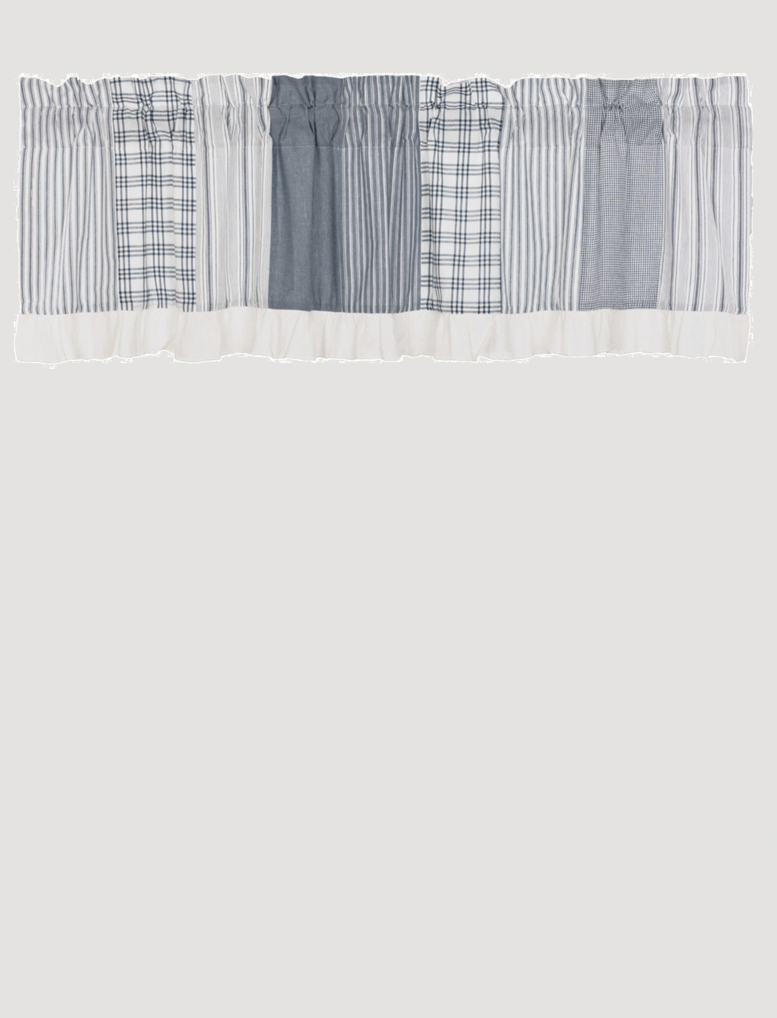 VHC Brands Sawyer Mill Blue Patchwork Valance