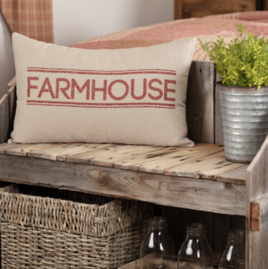 VHC Brands Sawyer Mill Red Farmhouse Pillow