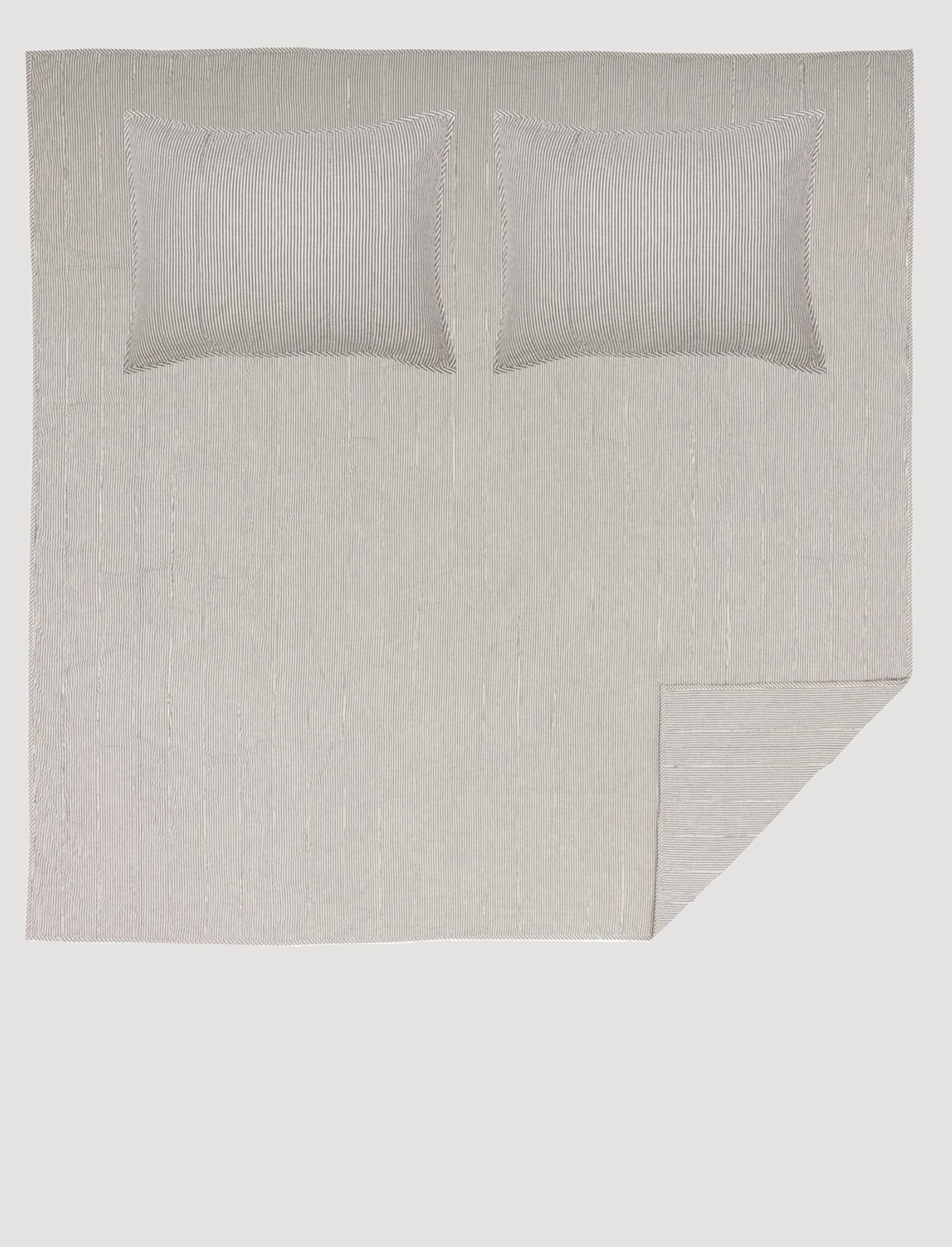 VHC Brands Hatteras Seersucker Blue Ticking Stripe Quilt Coverlet
