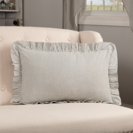 VHC Brands Hatteras Seersucker Blue Ticking Stripe Fabric Pillow