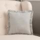 VHC Brands Hatteras Seersucker Blue Ticking Stripe Fabric Pillow