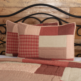 VHC Brands Rory Schoolhouse Red Sham