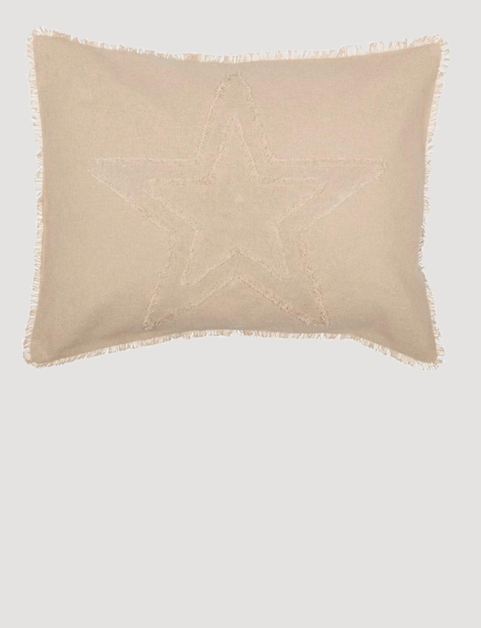VHC Brands Burlap Vintage Star Sham