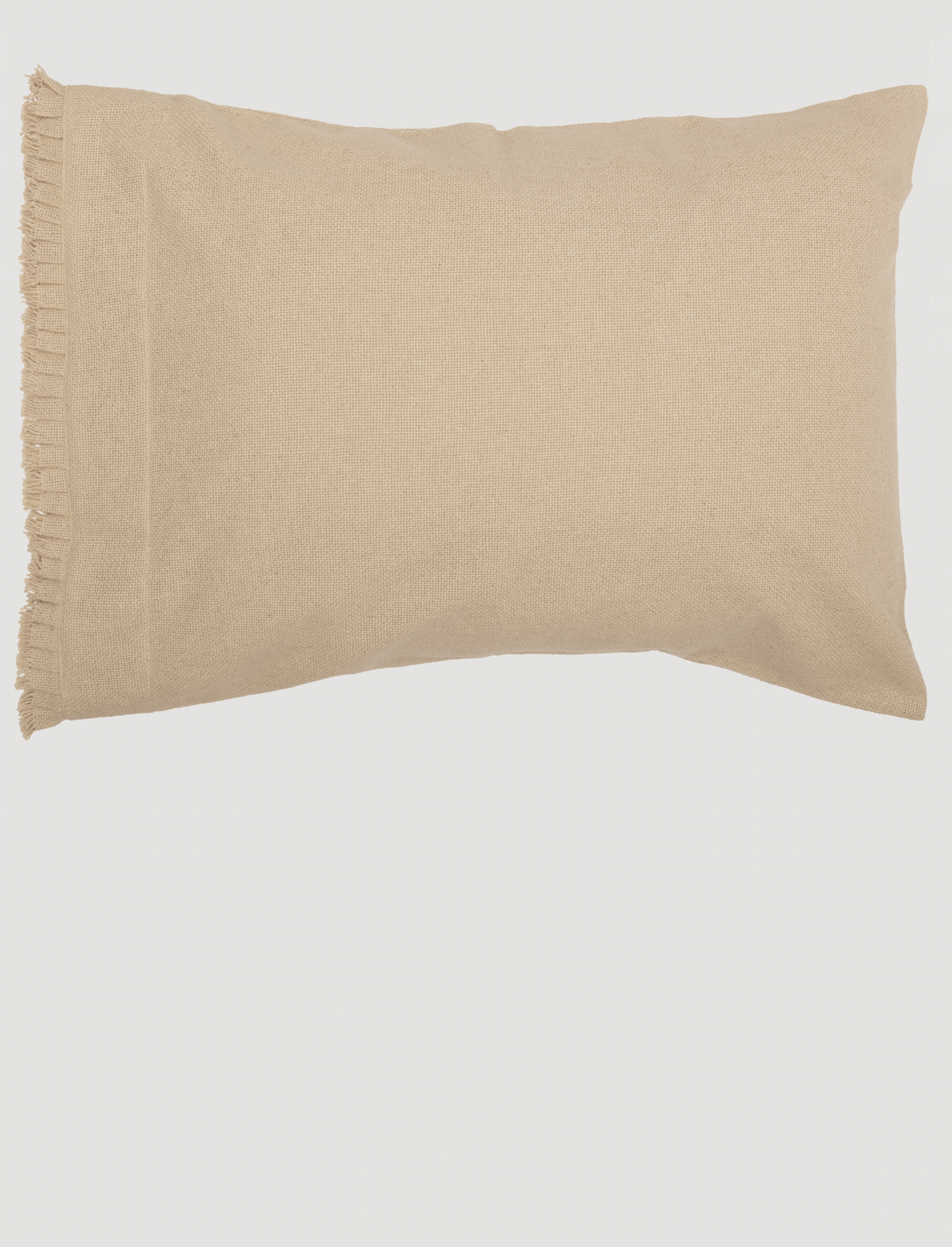 VHC Brands Burlap Vintage Ruffled Fringe Pillow Case Set of 2