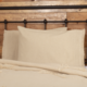 VHC Brands Burlap Vintage Ruffled Fringe Pillow Case Set of 2