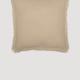 """VHC Brands Burlap Vintage Ruffled Fringe Fabric Euro Sham 26x26"""""""