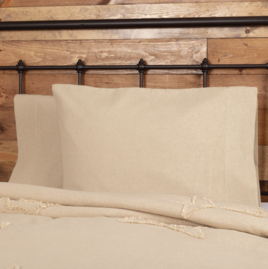 VHC Brands Burlap Vintage Pillow Cases