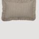 "VHC Brands Sawyer Mill Charcoal Ticking Stripe Fabric Pillow 14"" x 22"""