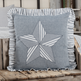 VHC Brands Sawyer Mill Blue Barn Star Pillow