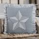"""VHC Brands Sawyer Mill Blue Barn Star Pillow 18"""" x 18"""""""