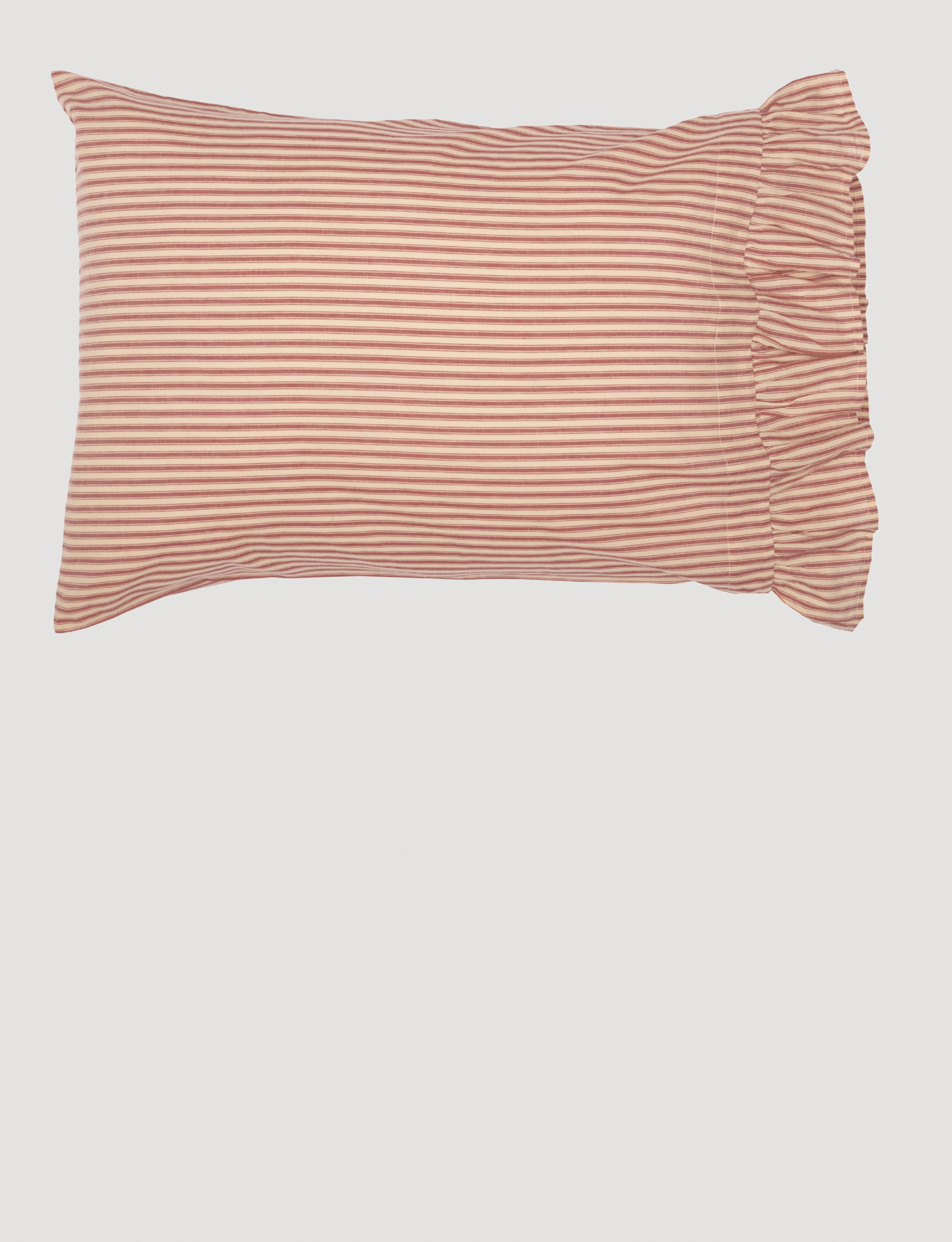 VHC Brands Sawyer Mill Red Ticking Stripe Pillow Case Set of 2