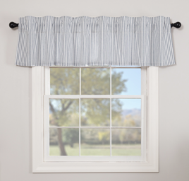 VHC Brands Sawyer Mill Blue Ticking Stripe Valance