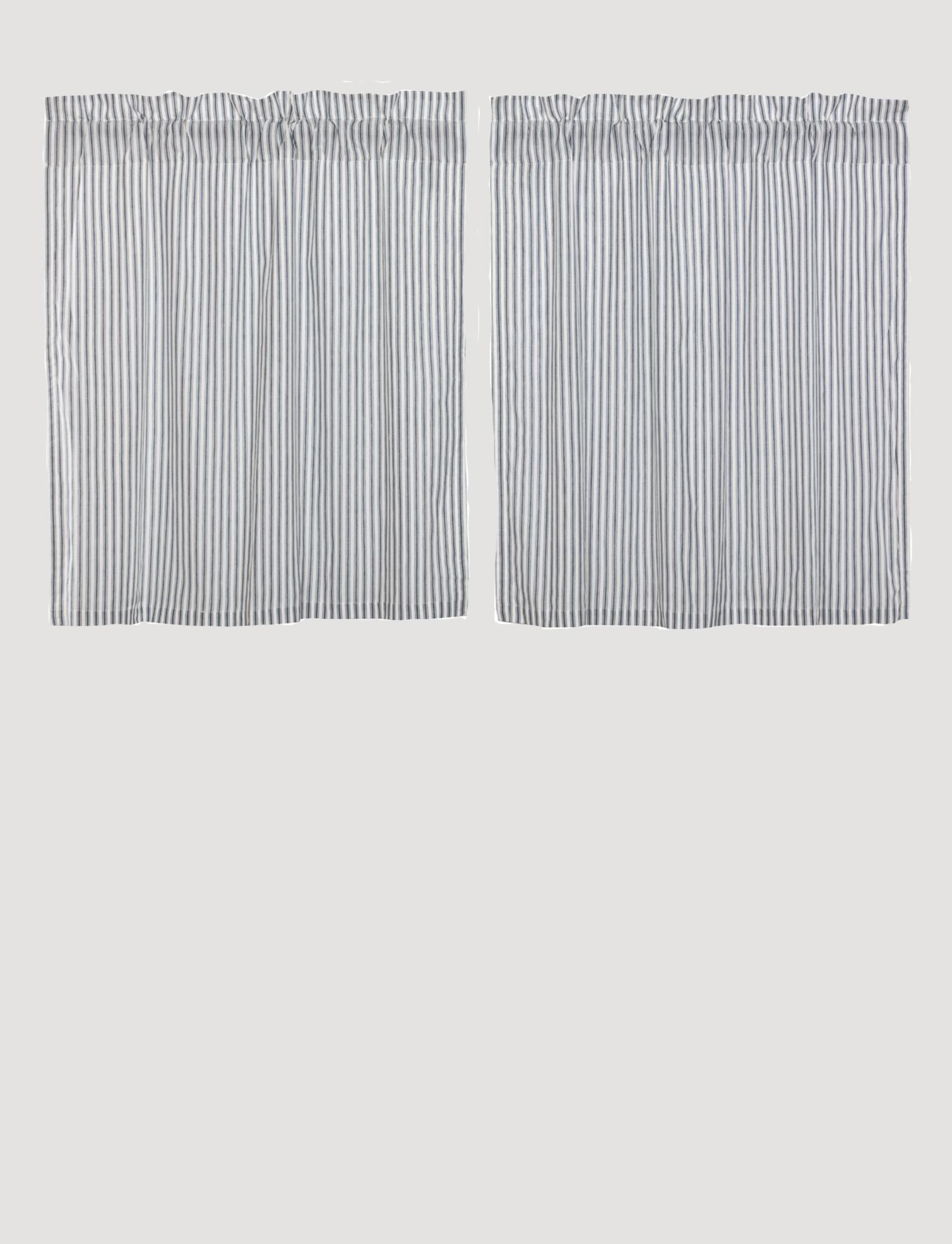 VHC Brands Sawyer Mill Blue Ticking Stripe Tier Set of 2