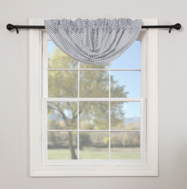 VHC Brands Sawyer Mill Blue Ticking Stripe Balloon Valance