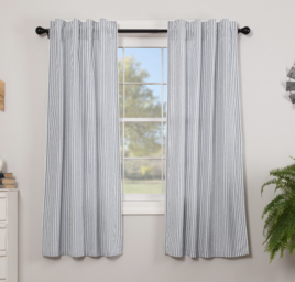 VHC Brands Sawyer Mill Blue Ticking Stripe Panel Set