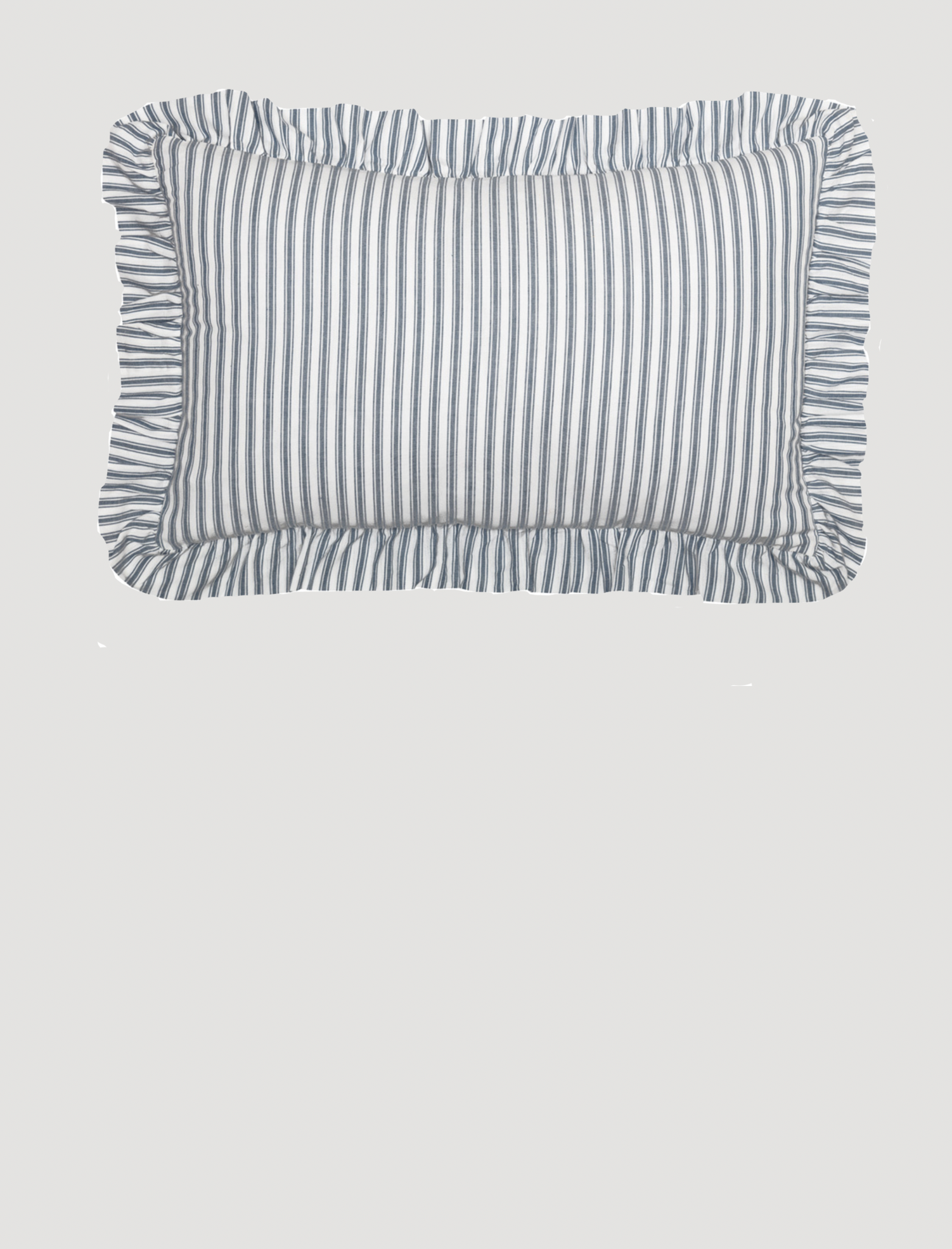 "VHC Brands Sawyer Mill Blue Ticking Stripe Pillow - 14"" x 22"""