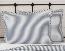 VHC Brands Sawyer Mill Blue Ticking Stripe Sham