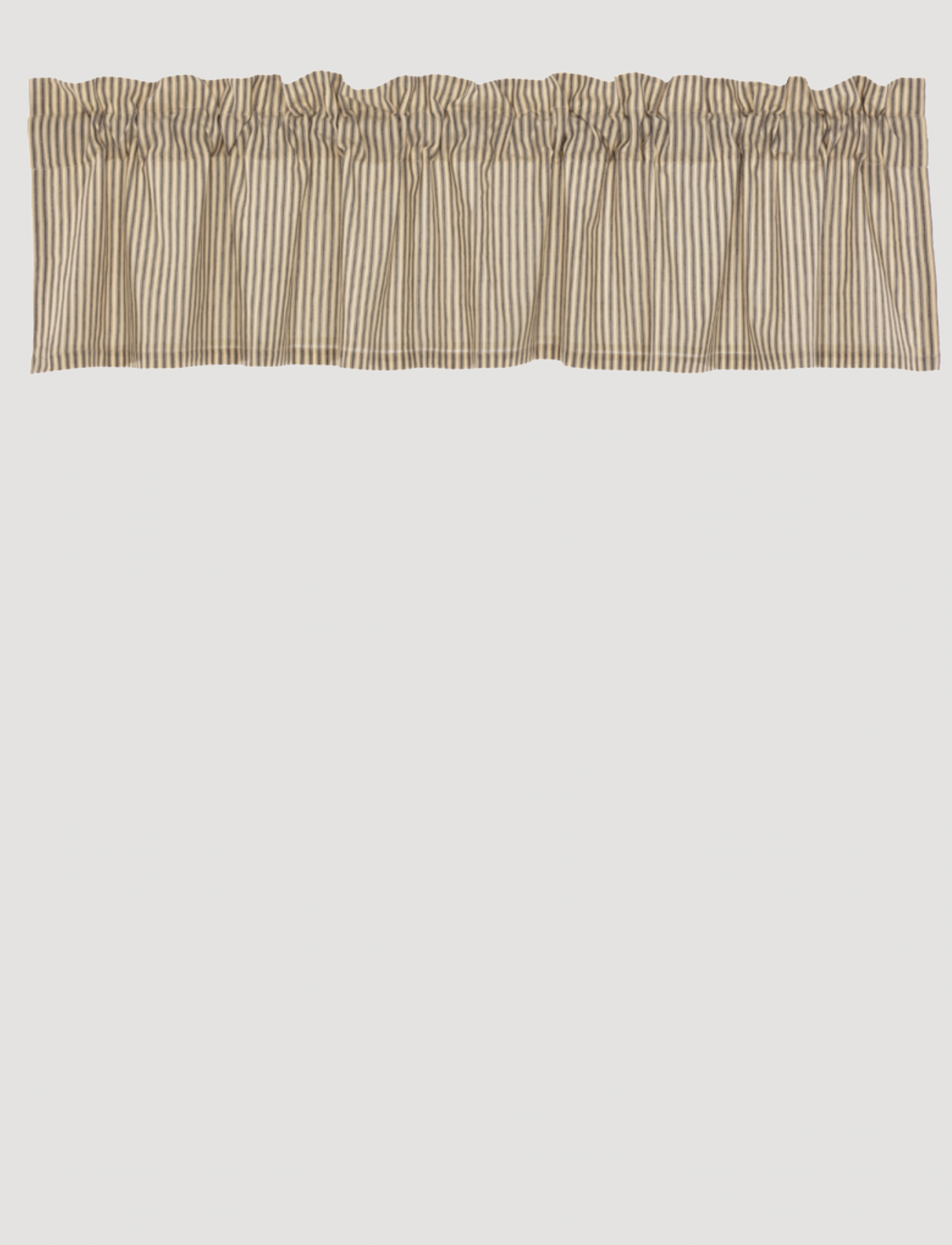VHC Brands Sawyer Mill Charcoal Ticking Stripe Valance